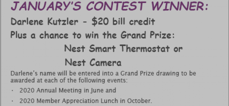 7 Cooperative Principles Contest Monthly Winner